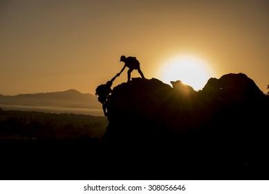 climbing help & success peak