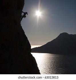 Climbing Kalymnos, Greece
