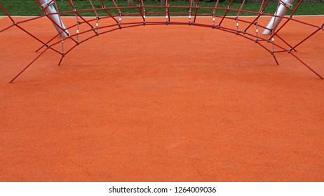 Climbing Net at Orange Playground For Children