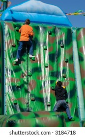 climbing, play boys on a playground
