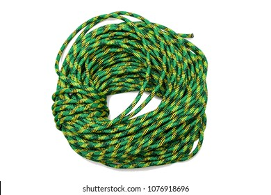 Climbing rope isolated on white background