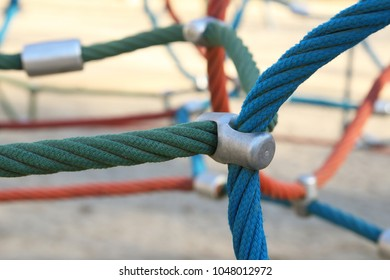 climbing ropes for children in the park