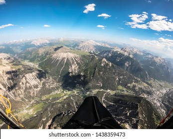 climbing in thermal up to 5000 mt with paraglide in a beautiful sunny day, France.