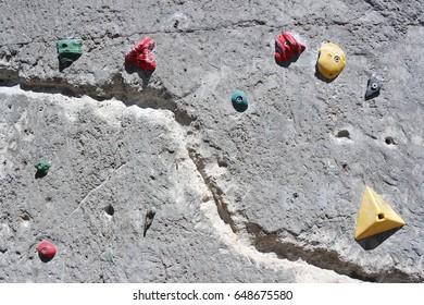 Climbing wall close up