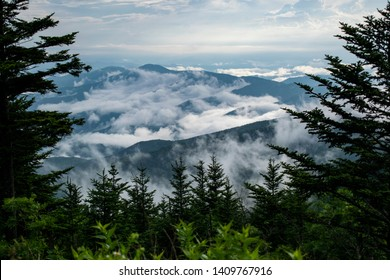 Clingmans Dome overlooking the Great Smoky Mountains after a storm
