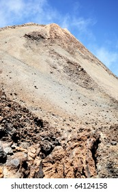 Clinker near the Teide volcano. Tenerife, Canary Islands