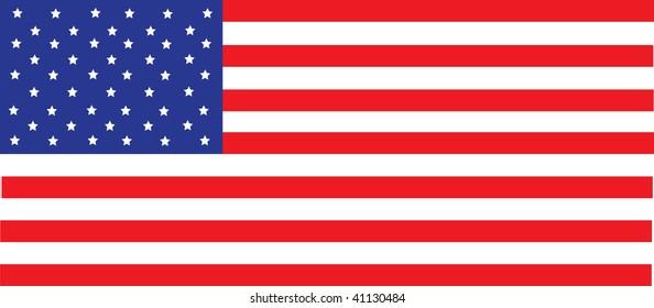 Clip art illustration of an american flag.