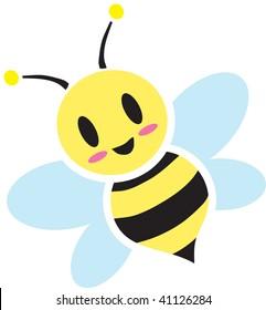 Clip art illustration of a bee