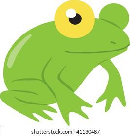 Clip art illustration of a frog.