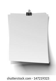 clip and blank note papers