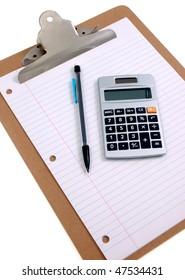 Clip Board And Calculator