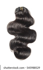 Clip in body wave black human hair extensions