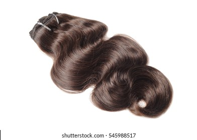 Clip in body wave dark brown human hair extensions