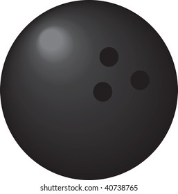 clipart illustration of a bowling ball