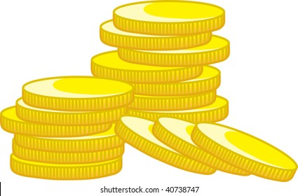 clipart illustration of a stack of golden coins