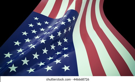 Clip-art USA FLAG .black background