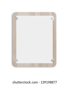 clipboard  on white background