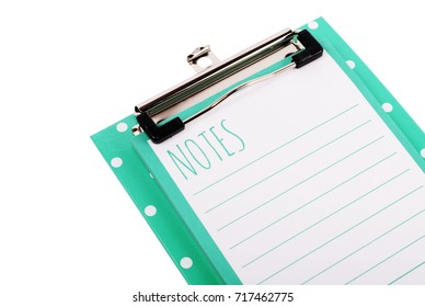 Clipboard with sheet isolated on white backgrounds