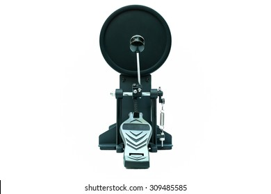 Clipping path of the electric drum pedal isolated in white background