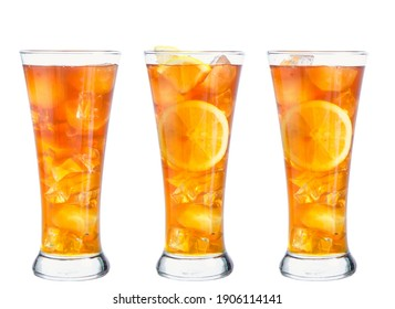 clipping path ice tea isolated on white background
