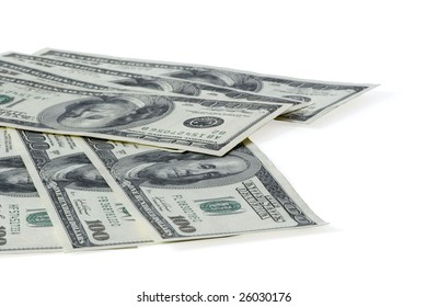 Clipping path include. Dollars banknotes
