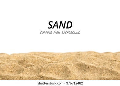 Clipping path sand on white background.