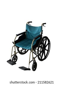 Clipping path this file Wheelchair service in airport terminal