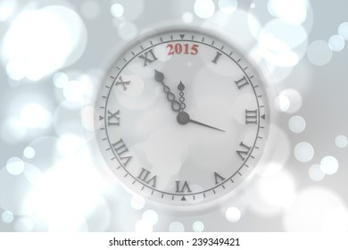Clock against white glowing dots on grey