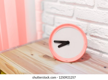 clock alarm modern interior. color of the year 2019 Living coral
