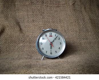 clock analog retro with sacks  walls