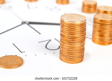 Clock and coin