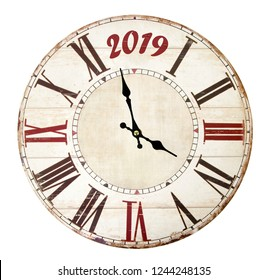 Clock with the coming new year