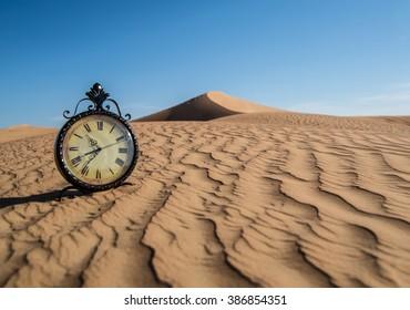 Clock in the Desert