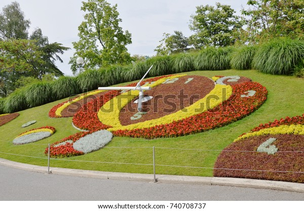 Clock Flower Jardin Anglais Land Mark Stock Photo Edit Now 740708737