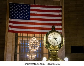 Clock of Grand Central Station - New York, USA