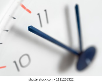 Clock hands close-up