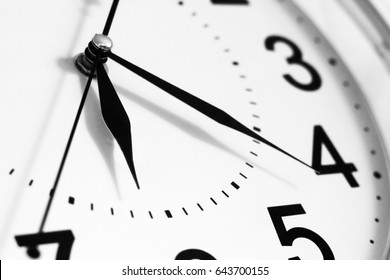 Clock Hands isolated on a white background, time