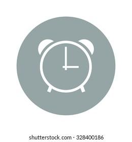 clock icon,  Flat design style