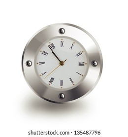 Clock isolated on plain background