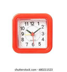 clock isolated on white background.