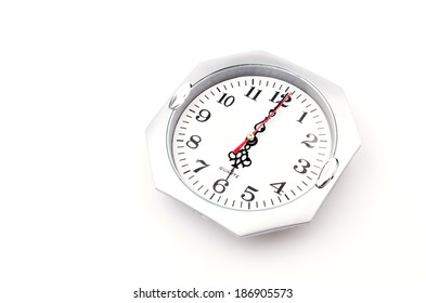 Clock isolated white background