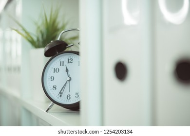 Clock in the medical office, it's time for your next exam appointment at the doctor's.