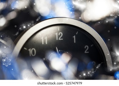 clock at midnight - New Year background