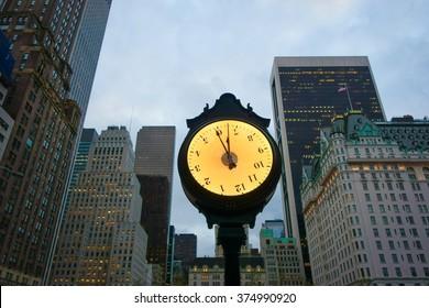 Clock in New York