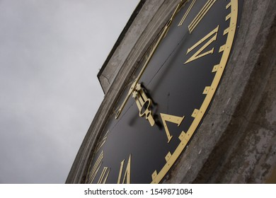 The clock on the bell tower. Nilo-Stolobenskaya Deserts. The monastery on the shores of Lake Seliger in the Tver region.