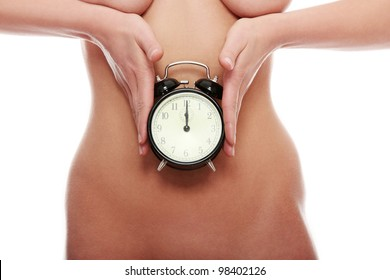 Clock on belly