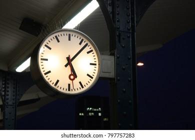 Clock on railway station