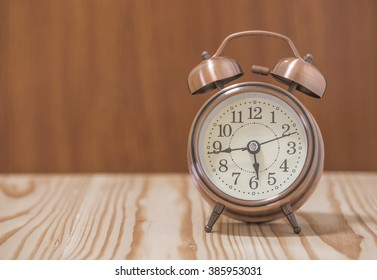 The clock on the table,selective focus