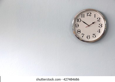 Clock on the wall for background