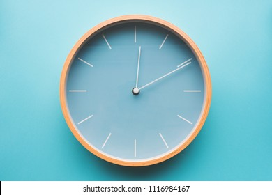 Clock on the wall, ten minutes after midnight
